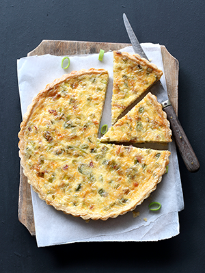Ham and vegetable quiche