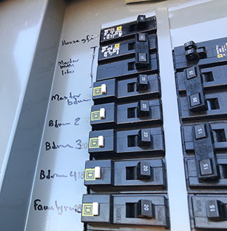 Home electrical circuit panel