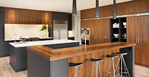 wood kitchen counter