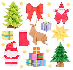 Christmas Origami.Holiday Origami Projects
