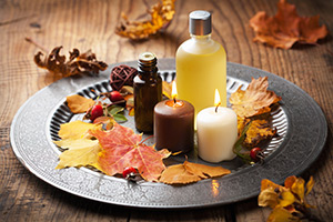 Add scents of fall to open house